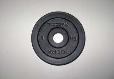 Disco In Ghisa Nero Gommato Toorx 2 Kg  Foro 25 mm