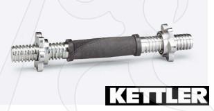 Manubrio Cromato Kettler 35 cm Foro 30 mm Chiusura a Vite