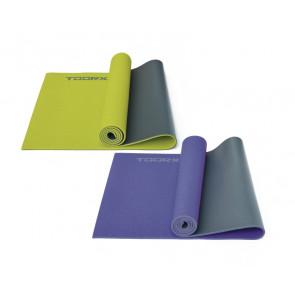 Materassino per Yoga Bicolore verde-grigio con superficie Anti-Scivolo Toorx