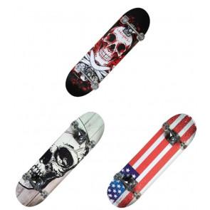 Nextreme Skateboard TRIBE PRO BLOODY SKULL / WHITE SKULL / USA FLAG